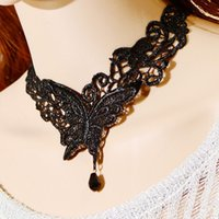 Wholesale European special offer Mutu explosion Lace Necklace Korean fashion all match Butterfly Pendant