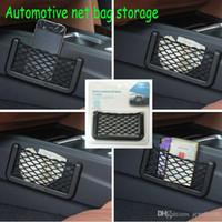 Wholesale New Car Storage Net Automotive Pocket Organizer Bag For Mobile Phone Holder Auto Pouch Adhesive Visor Box Car Accessories