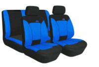Wholesale High Quality Universal Full Car Seat Covers Gray Blue Red gray Color Cushion Car Steering Wheel Cover Interior Accessories