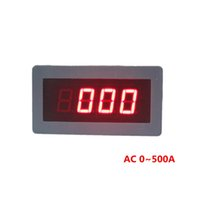 Wholesale ZF5135 digital panel meters AC ammeter AC500A A amp ampere meter power supply AC220V