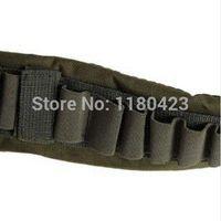 bandolier band - High Quality Adjustable Durable Bandolier Ammo Belt Shotgun Shells Belt Waist Band Army Green Hunting Gun Accessories
