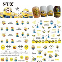 Wholesale 1pcs Cute Cartoon Designs Christmas Gift DIY Sticker Nail Art Water Transfer Decals for Manicure Nails Accessory STZ075
