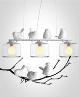 art bird houses - 2016 new arrivals genuine LED pendant lights vintage bird duck livingroom coffee house LED glass pendnant light Top novelty Indoor Lights