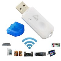 Wholesale USB Bluetooth Audio Receivers Dongle Adapter Built in microphone supports handsfree function For Car Home Speakers