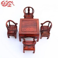 antique carved chairs - Wood carving wood carving crafts antique rosewood mahogany chair small Home Furnishing jewelry ornaments gifts special offer