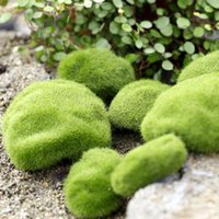 Wholesale Simulation Moss Stones Grass Garden Plant Pot Fish Tank Decoration Ball Hot Selling