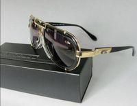 authentic aviator sunglasses - 642 SUNGLASSES AVIATOR LEGEND BLACK GOLD AUTHENTIC NEW