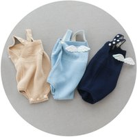 Wholesale Baby Rompers Autumn Cute Wing Korean Fashion Cotton Knitting Romper for Infant Toddler Clothing ER