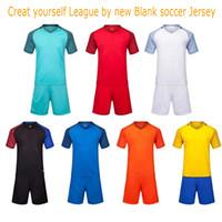 Wholesale 2016 New Blank training soccer jersey kits single color blank Jersey customized name number Running jersey kits football Camiseta de futbol