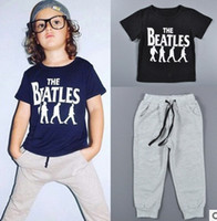 beatles clothing - Hot sale Summer kids clothes sets the beatles boy t shirt pants suit clothing set newborn sport suits baby boy clothes children boys clothes