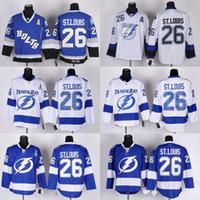 bay c - 2016 Men Tampa Bay Lightning Ice Hockey Jersey Martin St Louis Blue White Black C Patch Stitched Jerseys