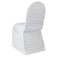 Wholesale cheap wedding elastic ruffled chair cover