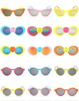 baby sunglasses infant - 2016 Plastic Frame Baby Kids Sunglasses Eyeglasses Infants Spetacle Boy Girls Eye Shades Goggles Bowknot Beach Eyewear Free DHL K132L