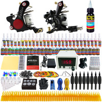 Wholesale Solong Tattoo Complete Tattoo Kit Pro Machine Guns Inks Power Supply Foot Pedal Needles Grips Tips TK225