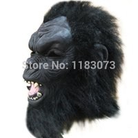 ape face - terror long haired Tarzan of the Apes mask animal Monkey Head masks Halloween masquerade supplies