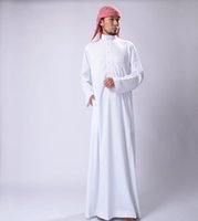 muslim clothing for men - 2016 Hot Sales Xinjiang Ethnic Clothing men Traditional Muslim Robes White For Four Season Min