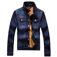 Wholesale 2016 Autumn Winter Men s Thick Fleece Denim Jacket Warm High Quality Fashion Casual Male Jackets Coat Slim Fit Coats Men jean Jacket