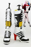 batman shoes for women - Batman Suicide Squad Harley Quinn Boots Movie Cosplay Costumes Shoes High Heels Custom Made For Adult Women Halloween Party