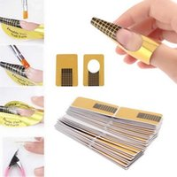Wholesale Jimshop Nail Art Tips Extension Forms Guide French DIY Tool Acrylic UV Gel