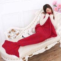 Wholesale A mermaid on behalf of Deng Chao air conditioning blanket HANDMADE TV sofa Mermaid tail
