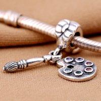bead pens wholesale - PD New Arrival Sterling Silver Charms Paint colorful pen pendant Beads women jewelry Fit for Pandora Bracelets