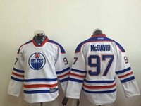 Wholesale NHL Eomonton Oilers McDAVID New Youth kids Ice Hockey Jerseys white orange blue color J SCHULTZ HORCOFF all sizes MIX ORDER
