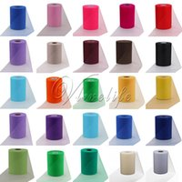 Wholesale 21 Colors quot x100yards Tissue Tulle Roll Spool Craft for Table Runner Skirts Table Chair Gifts Wedding Party Event Banquet Decor Supplies