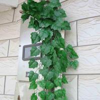 artificial grape vines - NEW M Long Artificial Plants Green Ivy Leaves Artificial Grape Vine Fake Foliage Leaves Home Wedding Decoration