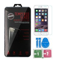 Wholesale For Iphone Tempered Glass Screen Protector Film Anti Scratch D mm For Iphone Plus S S Samsung S5 J3 J5 J7 A3 A5 A7 With Package