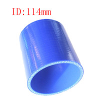 Wholesale Universal Samco quot ID mm Ply Straight Silicone Intercooler Turbo Air Intake Pipe Coupler Hose blue Intercooler silicone pipe