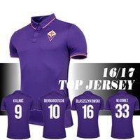 Wholesale 2016 Football Equipment Florence season home fans edition jersey M gomez Bernardeschi Blaszczykowski Kalinic Football Clothes
