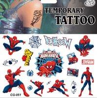 armed spider - for kids taty Factory direct sale CG children cartoon tattoo paste green flash tatoo sticker spider man stickers