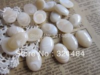 Wholesale Ivory Oval x25mm Vintage Resin Stone Cameos Cabochons for Earring Bracelet Ring Necklace Pendants diy