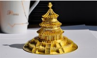 Wholesale PieceCool D Metal Nano Puzzle DIY Assembling Metal Building Model Temple of Heaven Metal Earth D Jigsaw Souptoys for Big Child