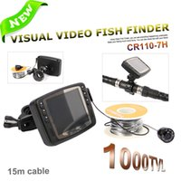 Wholesale 720P MP IR LED HD TVL Color LCD Monitor Underwater Ice Video Fishing Camera System m Cable Visual Fish Finder