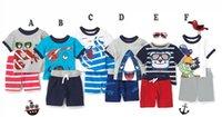baby pirate shirt - 2016 hot sell boys pirate clothing animal boys clothing boys cartoon sport set summer baby cotton t shirt shorts set piece suit set boy fr