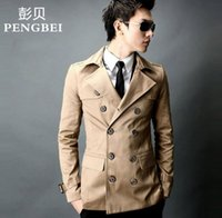 Wholesale The spring and autumn Korean men in the long slim windbreaker thin double breasted coat young metrosexual man British custom tide