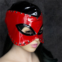 Cheap Wholesale Sexy Toys Fetish Open Mouth Eyes Hood Face Mask Head Restraint Bondage Headgear Adult Games Sex Products FF0004