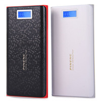 Wholesale Original PINENG PNW mAh Mobile Portable Power Bank Dual USB Charging External Battery Charger with LCD Flashlight