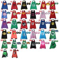 baby superheroes - Halloween Superhero Cape Mask Piece Set For Baby Boy Girl Suit The Avengers Children Kids Cosplay Cartoon Party Accessories CM