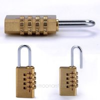 Wholesale 4 Digit Metal Combination Lock Password Plus Padlock Protable Travel and bag Digit Password Padlock