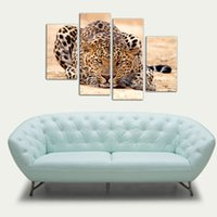 beautiful tigers - 4 Picture Combination Impression Animal Oil Painting Beautiful Animal Canvas Print Art Home Decor of Forest King Tiger Paintings