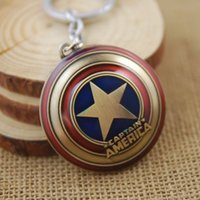 antique shield - Super Hero Keychains The Avengers Captain America Shield Metal Pendant Key Chains Rings Chaveiro Gift For Men