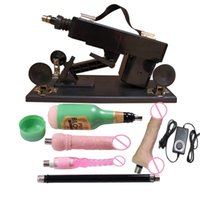 Cheap Newest Fashion Luxury Automatic Sex Machine Gun Set for Men and Women Fucking Machine with Male Masturbation Cup and Big Dildo Sex Toys