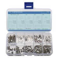 Wholesale M3 Stainless Steel Hex Socket Cap Screw Lock Washers lock Nuts Flat washers Kit
