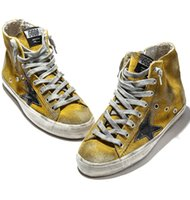 Wholesale 2016 Hot Designer Golden Goose Francy GGDB Superstar Unisex Casual Skate Shoes Fashion High Top Dirty Old Breathable Woman Man Leather