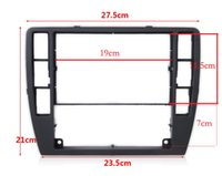 Wholesale for VW Passat B5 Middle Escutcheon Center Decorative Box Dashboard Console Panel CD Recorder Frame Radio Face Trim B0 lt no track