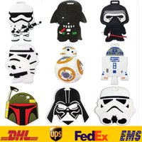 adress label - Star Wars Darth Vader Stormtrooper Luggage ID Tags Labels Travel Boarding Adress ID Card Case Bag Collectible Keychain Key Rings Toys HH L01