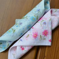 Wholesale 12pcs High Quality ladies cotton handkerchief scarf kerchief headpiece headkerchief Color square bottom Daisy wedding gift