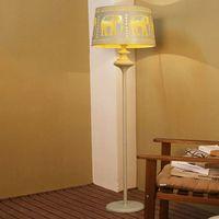 Wholesale Floor Lamps Modern New Design Style LED Floor Lights V V elephant pattern Iron Lampshade Sitting Room Lamp Sofa Edge Beside Lamps